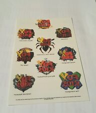 fox kids temporary tattoos sheet - spiderman unlimited
