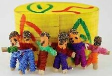 6  x WORRY DOLLS in BOXED SET - Guatemalan Wicca Witch Pagan Goth Punk Spell