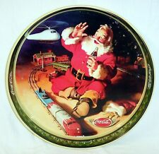 NEW 1980'S COCA COLA SANTA TOY TRAIN  MEXICAN - SPANISH CHRISTMAS HOLIDAYS TRAY