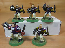 5 PLASTIC ADVANCED SPACE CRUSADE SCOUTS INC SERGEANT PAINTED (617)