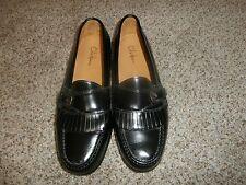 NEW COLE HAAN CITY Black Leather Classic Kiltie Buckle Loafers 3518 Men's SZ 8D