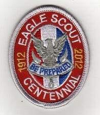 Eagle Scout Centennial Rank Patch, Type 12, Plastic Gauze Backing (2012), Mint!