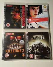 PS3 PLAYSTATION 3 Gioco Bundle JOB LOTTO Metal Gear Solid Fallout 3 KILLZONE 2