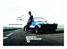 PAUL WALKER - FAST & FURIOUS 6 AUTOGRAPHED SIGNED A4 PP POSTER PHOTO