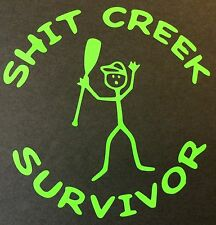 SH*T CREEK SURVIVOR DECAL STICKER 14 COLORS FORD CHEVY DODGE VW JDM HONDA MAZDA