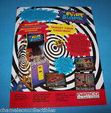 POINT BLANK By NAMCO 1994 ORIGINAL NOS VIDEO ARCADE GAME SALES FLYER BROCHURE