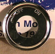 28-31 Model A Ford Ignition Switch On-Off Plate and Bezel.