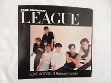 "THE HUMAN LEAGUE ""Love Action"" /PICTURE SLEEVE! BRAND NEW! ONLY NEW COPY ON eBAY"