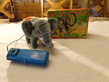 VINTAGE BATTERY OPERATED ELEPHANT WALKING MOVING TOY WORKS W/ORIG BOX MSK JAPAN