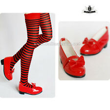 MSD 1/4 BJD Shoes Dollfie DOD Lolita bow Christmas red Shoes MID AOD LUTS SOOM