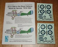 1/72 scale DECALS - AIRCO DH9 - ROYAL GREEK NAVAL AIR SERVICE 1921  - BLUE RIDER