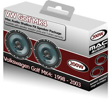 VW Golf MK4 Front Door speakers Mac Audio car speaker kit 200W + adapters pods