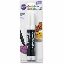 Wilton Black Food Writer Edible Color Markers Fine & Bold Tip (2-Pack) -609-1192