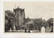 Radcliffe Parish Church Lancashire Vintage RP Postcard 382b