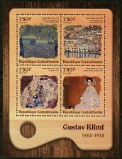 CENTRAL AFRICA 2016 GUSTAV KLIMT PAINTING  SHEET MINT NEVER HINGED