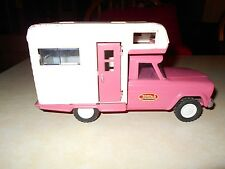 TONKA  PINK JEEP PICK-UP WITH CAMPER 9.5X5X3.45""