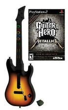 NEW PS2 Wireless Guitar Hero World Tour Guitar & GH Metallica Game Bundle Kit