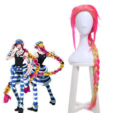 USA Ship Nanbaka Uno Mixed Color Straight Braid Hair Anime Party Cosplay Wigs