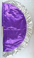 Purple/Silver  Angel's Wing Flag with Pole - Christian Worship Dance