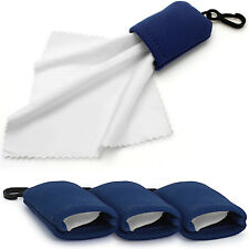 3x Micro Fibre Cleaning Cloth in Pouch for Camera Lens Glasses Mobile Binoculars