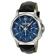 Corum Admiral's Cup Legend Automatic Chronograph Blue Dial Mens Watch