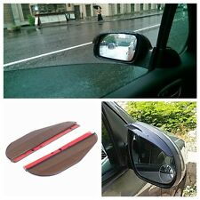 2x Universal Rear View Black Waterproof Side Mirror Rain Snow Shield Car Eyebrow