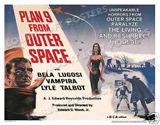 PLAN 9 FROM OUTER SPACE LOBBY CARD POSTER HS 1958 ED WOOD VAMPIRA BELA LUGOSI