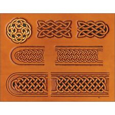 Celtic Belt & Buckle Leather Pattern Template - & Craftaid Design Craft 76611-00