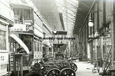 a0211 - Leeds Trams in Depot , Yorkshire - photograph