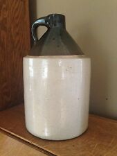 Antique Primitive 1 Gallon Whiskey Moonshine Crock Jug - Original- Great Looking