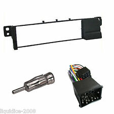 BMW E46 UP TO 2005 BLACK SINGLE DIN FASCIA FACIA ADAPTOR PANEL PACKAGE KIT