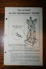 Lionel instruction Sheet for No.395 Floodlight Tower