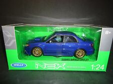 Welly Subaru Impreza WRX STI Blue 1/24