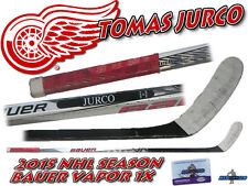 TOMAS JURCO 2015 Game Used Stick DETROIT RED WINGS - BAUER VAPOR 1X