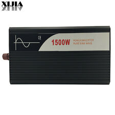 Pure Sine Wave solar Inverter 1500W 12V DC to AC 120V 60hz power toll LED