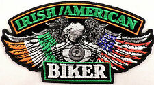 Irish American Eagle Biker  Motorcycle Uniform Patch