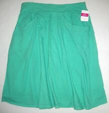 FRESH PRODUCE Large Spring GREEN Forget Me Not Cotton Voile Skirt $59 NWT L