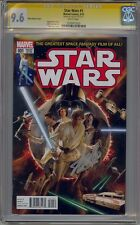 STAR WARS #1 MARVEL NOW ALEX ROSS COLOR VARIANT CGC 9.6 SS SIGNED STAN LEE