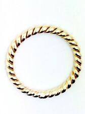 9ct Yellow Gold Twist Band Stackable Ring 2.5mm Thick.
