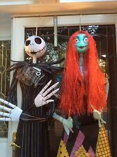 Disney Nightmare Before Christmas 6ft Jack & Sally LED Light & Sound Decorations