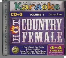 Karaoke CD+G - Hot Country Female Vol 1 - New 4 Song CD! Can't Fight Moonlight