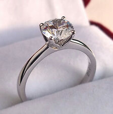 1.00 Carat Diamond 9K White or Yellow Gold Solitaire Engagement Ring Any Size