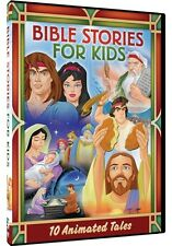 BIBLE STORIES FOR KIDS 10 ANIMATED TALES New Sealed 2 DVD Set