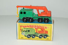 MATCHBOX #30C FAUN 8-WHEELED CRANE, BPW, EXCELLENT, BOXED TYPE E