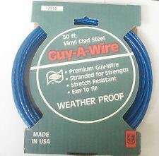 ELCO Anchor Wire #12555 50' Vinyl Clad Steel Plastic Coat Guy-Wire