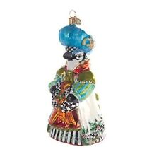 MacKenzie-Childs Christmas Ornament Beatrix Blue-Chicken Palace Ball Collection
