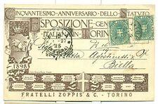 TORINO 1898 ESPOSIZIONE GENERALE ITALIANA F.lli Zoppis seppia