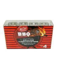 TableCraft BBQ Series Stainless Steel Grilling / Cooking Thermometers - Set of 4