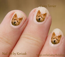 Cairn Terrier,  24 Unique Designer Dog Nail Art Stickers Decals