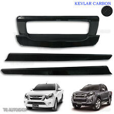 Fit Isuzu D-Max Holden 2016 2017 Black Kevlar Rear Tailgat  Accent Bowl Cover